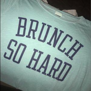 "PINK ""Brunch So Hard"" tee"